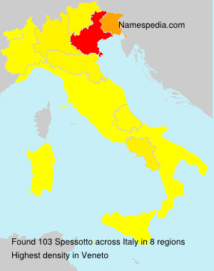 Surname Spessotto in Italy
