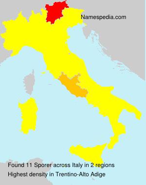 Surname Sporer in Italy