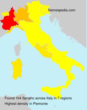 Familiennamen Spriano - Italy
