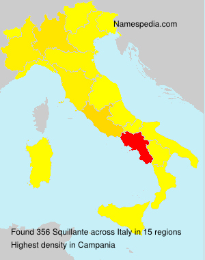 Surname Squillante in Italy
