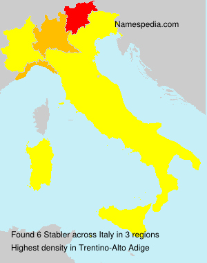 Surname Stabler in Italy