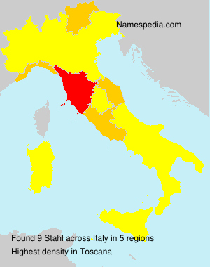 Surname Stahl in Italy