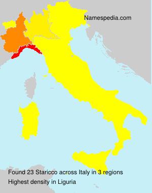 Surname Staricco in Italy