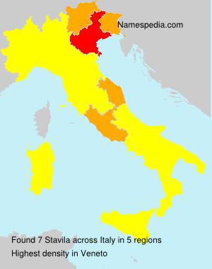Surname Stavila in Italy