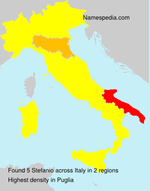 Surname Stefanio in Italy