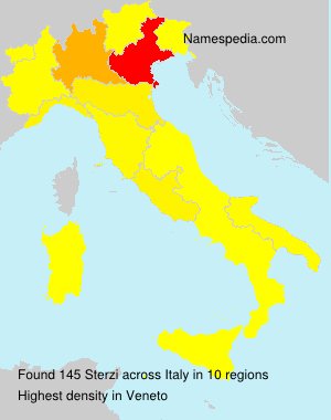 Surname Sterzi in Italy