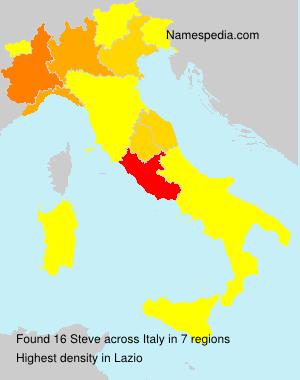 Surname Steve in Italy