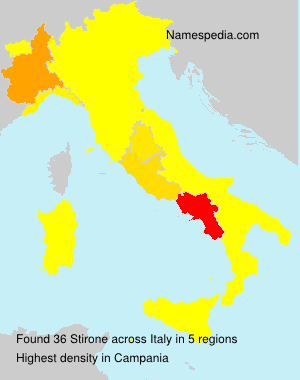 Surname Stirone in Italy