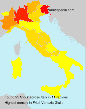 Surname Stock in Italy