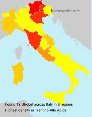 Surname Strobel in Italy