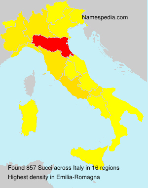 Surname Succi in Italy