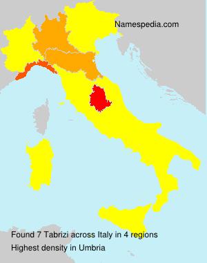 Familiennamen Tabrizi - Italy