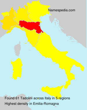 Surname Tadolini in Italy