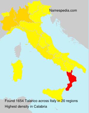 Familiennamen Talarico - Italy