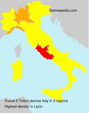 Surname Talatin in Italy