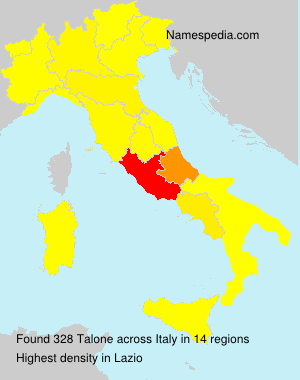 Surname Talone in Italy