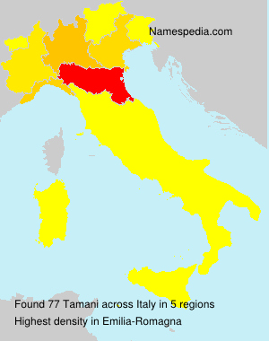 Surname Tamani in Italy