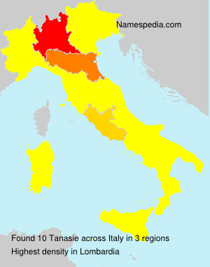 Surname Tanasie in Italy