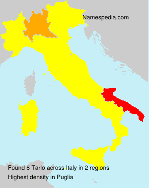 Surname Tarlo in Italy