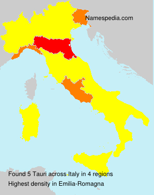 Surname Tauri in Italy