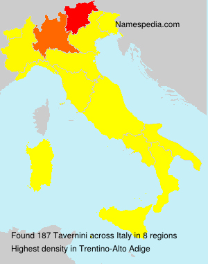 Surname Tavernini in Italy