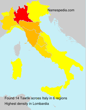 Surname Tawfik in Italy