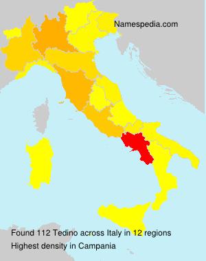 Surname Tedino in Italy