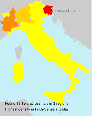Surname Teia in Italy