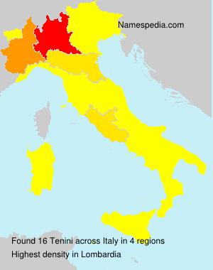 Surname Tenini in Italy