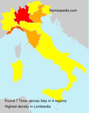 Surname Teran in Italy