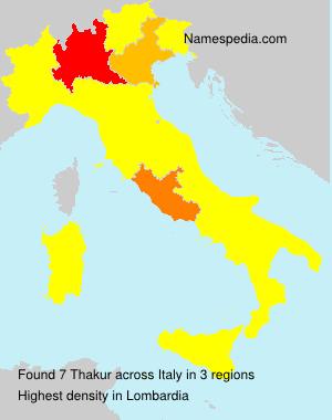 Familiennamen Thakur - Italy