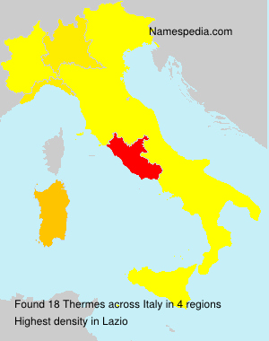 Surname Thermes in Italy