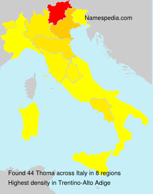Surname Thoma in Italy