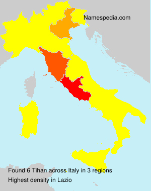 Surname Tihan in Italy