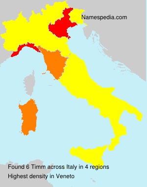 Surname Timm in Italy