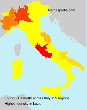 Surname Timofte in Italy