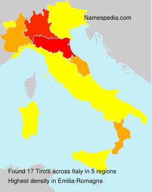 Familiennamen Tirotti - Italy