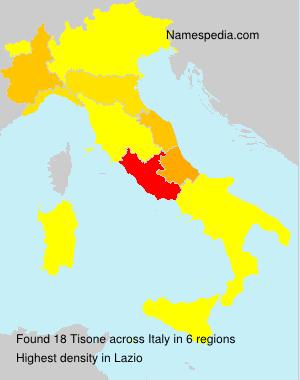 Surname Tisone in Italy