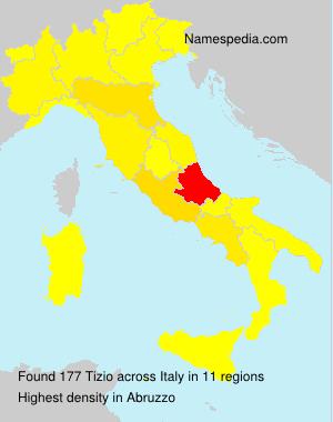 Surname Tizio in Italy