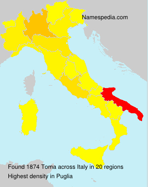 Surname Toma in Italy