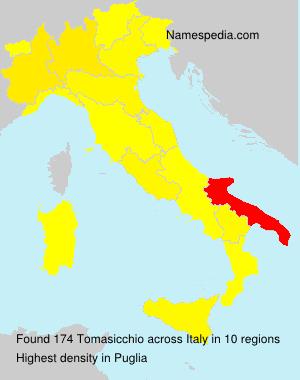 Familiennamen Tomasicchio - Italy