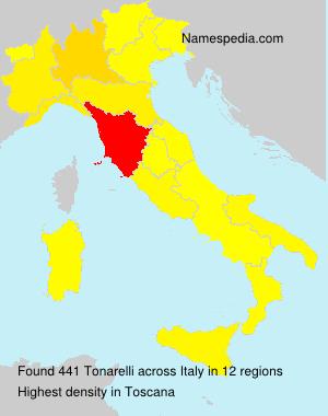 Surname Tonarelli in Italy
