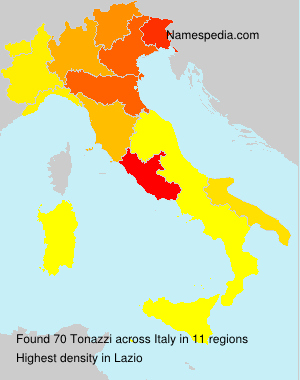 Surname Tonazzi in Italy