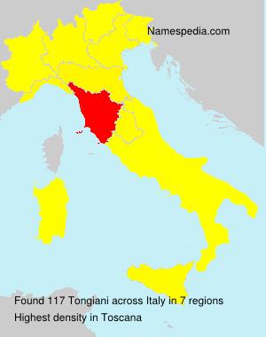 Familiennamen Tongiani - Italy