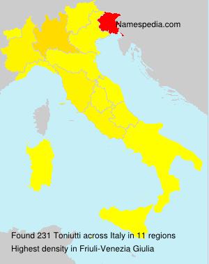 Familiennamen Toniutti - Italy