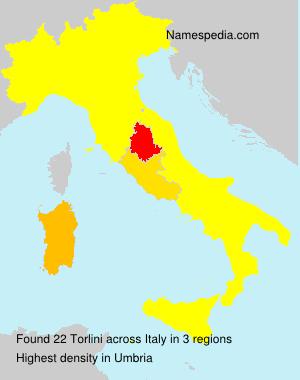 Surname Torlini in Italy