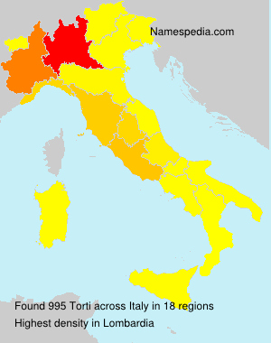 Surname Torti in Italy