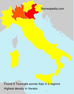 Surname Tounkara in Italy
