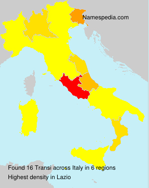 Surname Transi in Italy