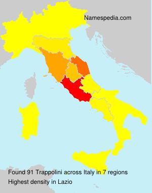 Surname Trappolini in Italy